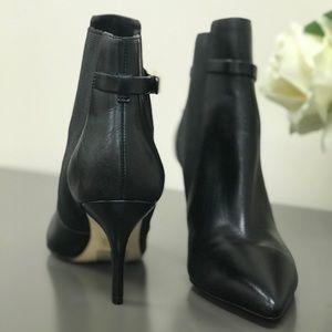 Michael Kors black leather booties size 7.5